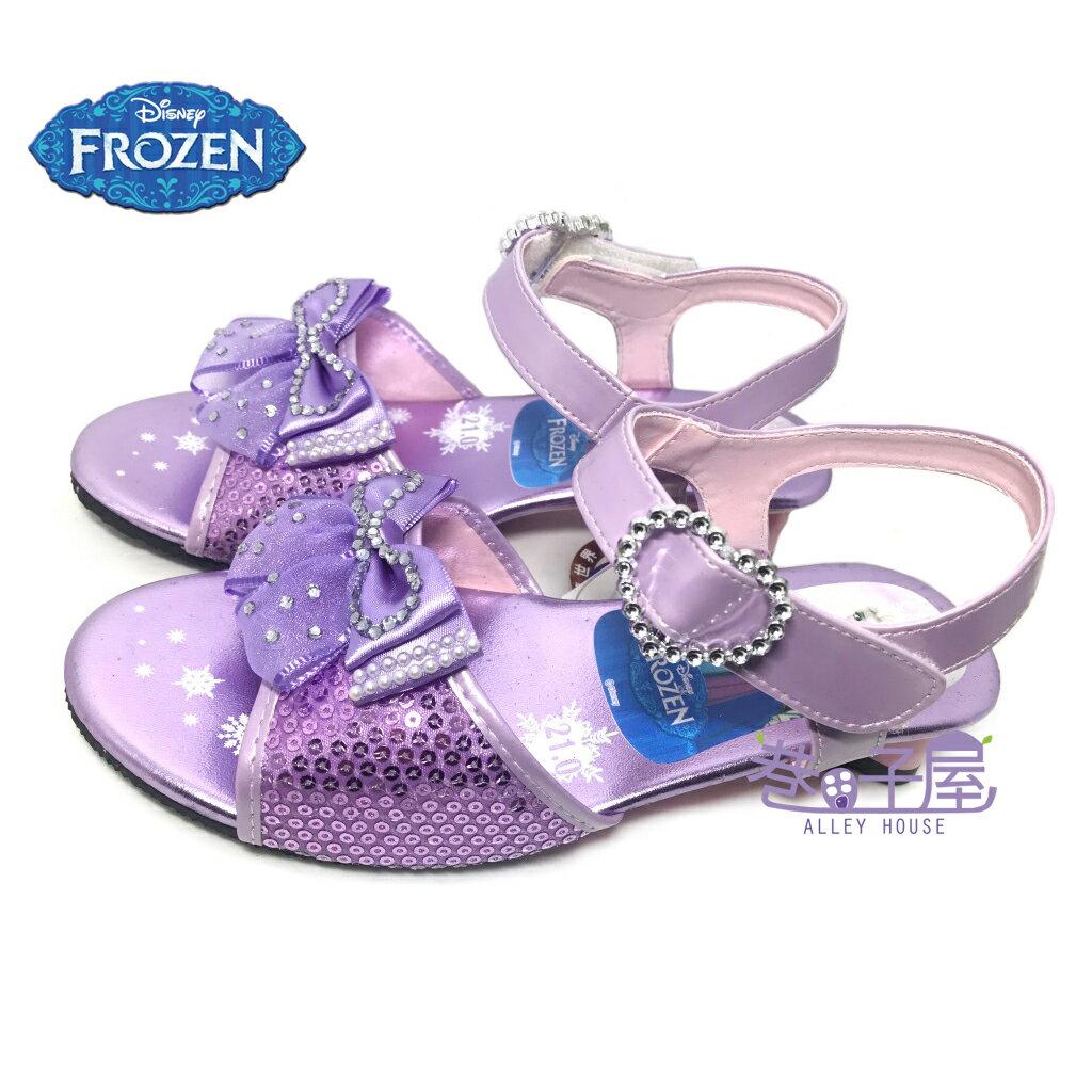 【巷子屋】DISNEY迪士尼 冰雪奇緣女童低跟亮片涼鞋 [54067] 紫 MIT台灣製造 超值價$198