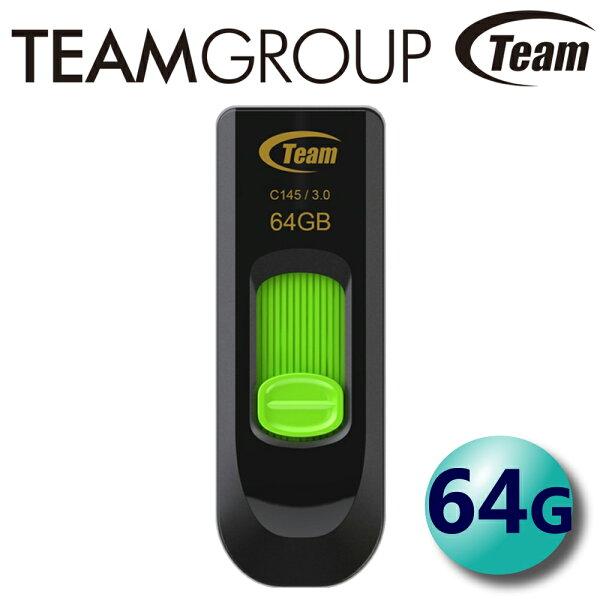 Team十銓64GBC145USB3.0隨身碟伸縮式
