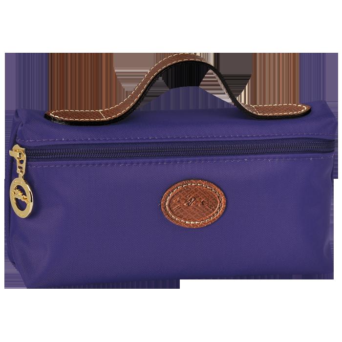 【LONGCHAMP】 LE PLIAGE 化妝包 - 水晶紫