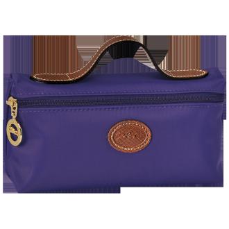 【LONGCHAMP】 LE PLIAGE 化妝包 - 水晶紫【滿3000領券現折300】