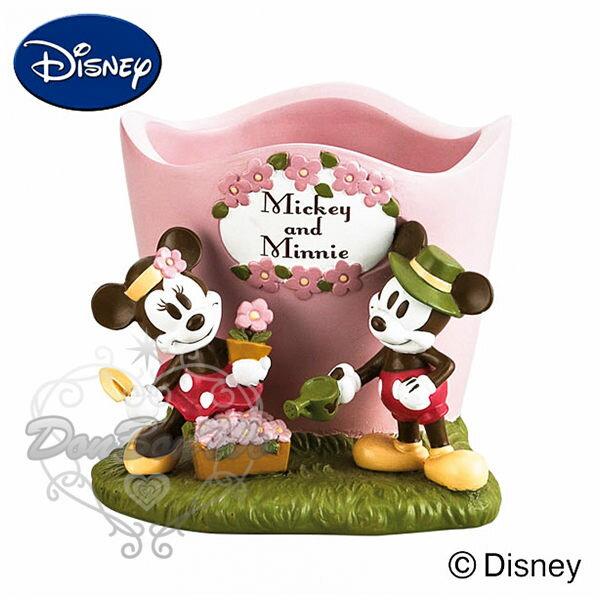 米奇米妮粉色造型陶瓷花器花盆擺飾園藝708959海渡