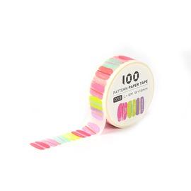 100款短米紙膠帶/馬卡龍/9075139 《品文創》