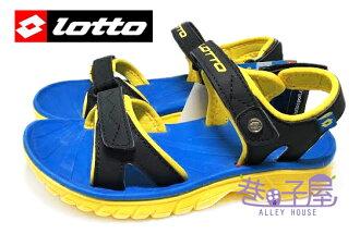 【巷子屋】義大利第一品牌-LOTTO樂得 男童跳色超輕量運動涼鞋 單足140g [2400] 黑黃 超值價$398