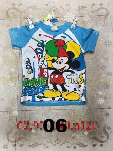 ☆╮寶貝丹童裝╭☆ 臺灣製 正版 迪士尼 滿版 米奇 米妮 唐老鴨 男女童 短袖 上衣 現貨