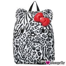 【Loungefly】Hello Kitty聯名款-斑馬紋凱蒂後背包LFSANBK0143《筑品文創》