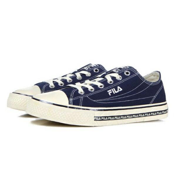 Shoestw【4C105T331】FILA CENTER COURT S 帆布鞋 休閒鞋 奶油底 深藍色 男女尺寸都有 1