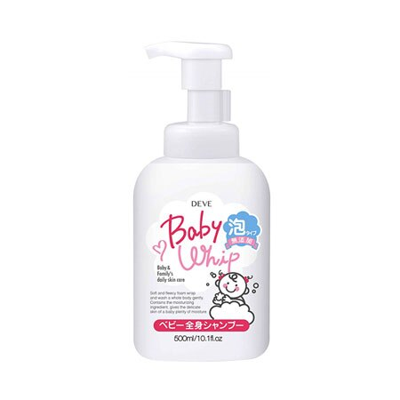 DEVE 熊野油脂 無添加嬰兒泡沫沐浴乳 500ml 沐浴乳 嬰幼兒 無添加 清潔 無香料