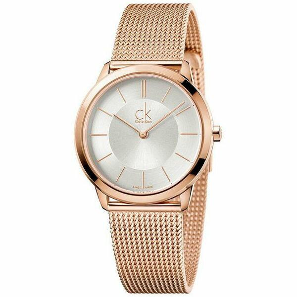 CK經典系列(K3M22626)玫瑰金米蘭時尚腕錶白面35mm