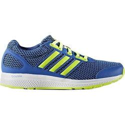 Adidas MANA BOUNCE 女鞋 大童 慢跑 輕量 藍 螢光黃 白 【運動世界】 B54142