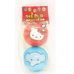 【真愛日本】18070700003 二入小球-四人圖案 凱蒂貓 kitty 三麗鷗 小球 隨機出貨 兒童玩具 運動 玩具