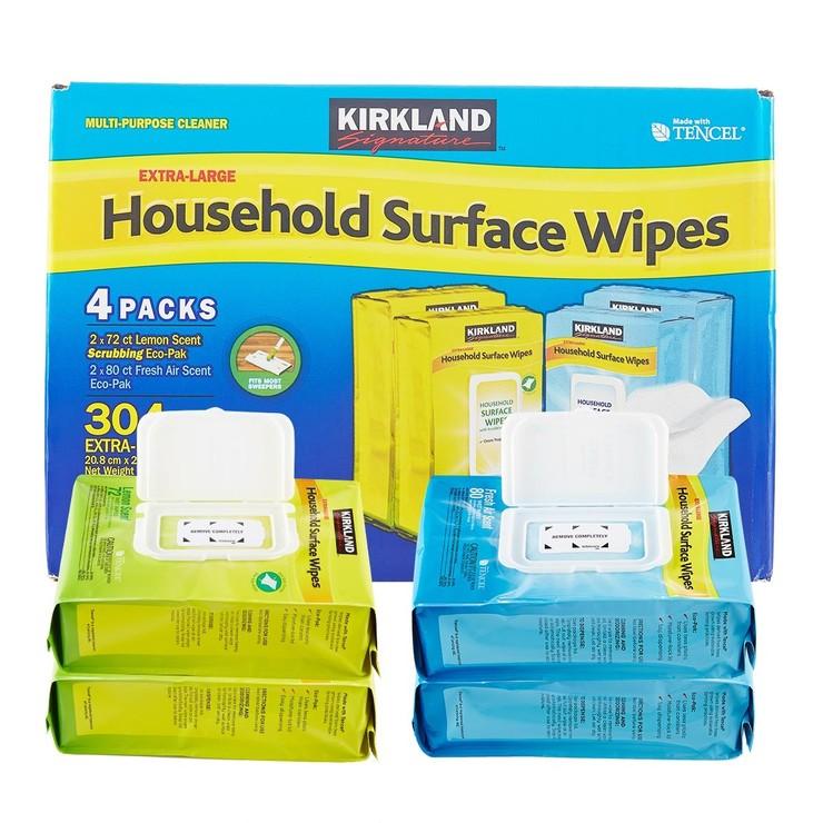 科克蘭 家用清潔擦拭濕巾 304張 (72 張 X 2入+ 80 張 X 2入)