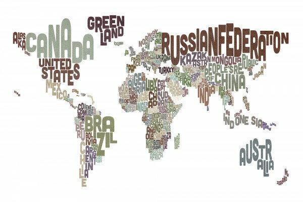 花纹世界地圖壁畫訂製壁畫e22678