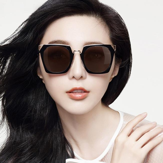 50%OFF SHOP新款方形時尚太陽鏡炫彩太陽眼鏡大框百搭墨鏡(附眼鏡盒)【J028155Gls】