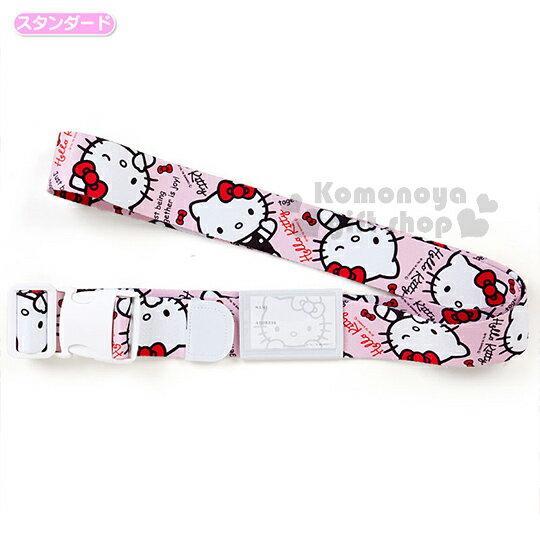 〔小禮堂〕Hello Kitty 日製旅行箱束帶《粉.多動作》使旅遊多采多姿