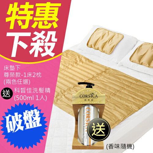 床殿下 ICE COOL 降8度冰酷涼墊 冷氣墊 1床+2枕(尊榮款) 贈科皙佳洗髮精500mlx1 霖威代理