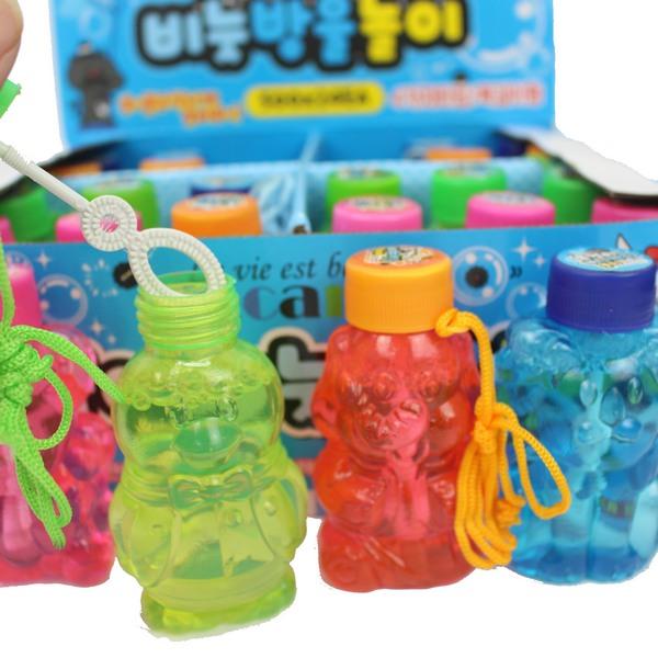 動物泡泡水 韓版500 吹泡泡水/一盒24瓶入{定15} 附繩泡泡水~錸0314