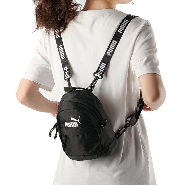 PUMA 後背包 小後背 雙肩 多功能 兩用 基本 黑【運動世界】07615401