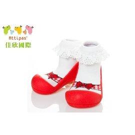 【淘氣寶寶】韓國【Attipas】快樂腳襪型學步鞋-芭蕾紅XL