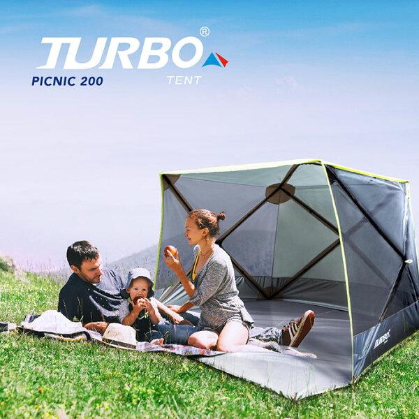 預購【RV運動家族】TURBOTENTPICNIC200野餐帳