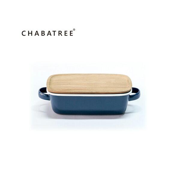 泰國Chabatree琺瑯雙把長方烤盤(海軍藍)
