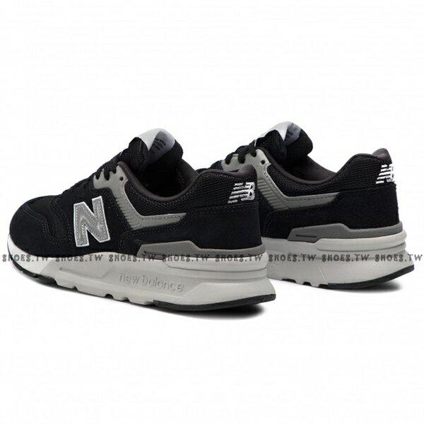 Shoestw【CM997HCC】NEW BALANCE NB997 復古休閒鞋 麂皮 網布 黑灰銀 男生尺寸 2