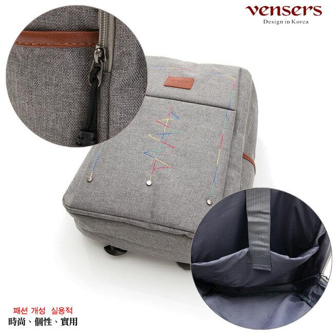 【vensers】簡約丹寧牛仔後背包(R00066302淺灰) 5