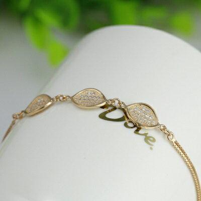 玫瑰金手鍊 鑲鑽純銀手環 ~ 高檔 百搭情人節生日 女飾品2色73dl45~ ~~米蘭 ~