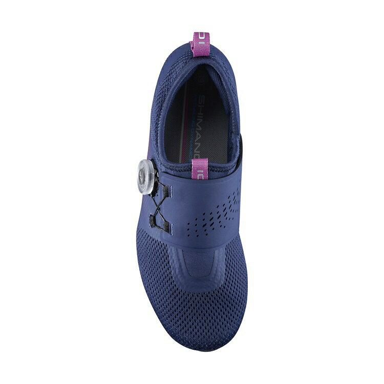 【7號公園自行車】SHIMANO IC5 女性室內飛輪課專用車鞋(登山卡)紫