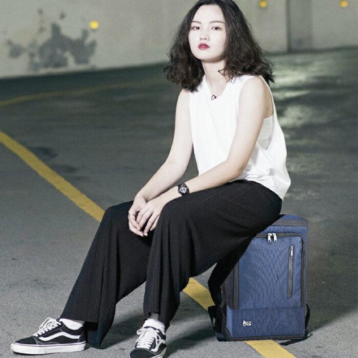 PackChair椅子包 盾牌包 防身包 電腦包 後背包 自助旅行包 藍色有胸扣版 0