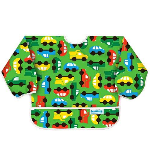 美國【Bumkins】小童長袖防水圍兜 -彩色車車 BKSU-227 (6-24個月) - 限時優惠好康折扣