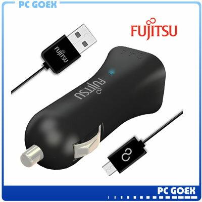 富士通FUJITSU雙USB車用充電器 (UC-01)黑色