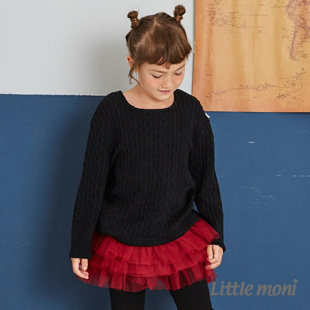 Little moni 針織麻花上衣-黑色(好窩生活節) 1