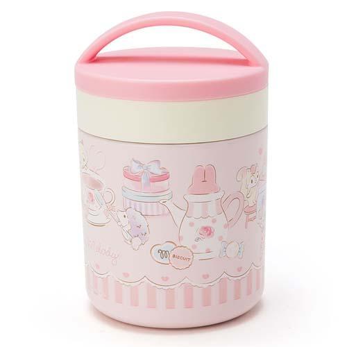 【百倉日本舖】日本進口/日本監製/攜帶式/提把美樂蒂造型可愛300ml 真空保溫罐