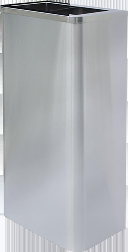 不鏽鋼紙巾垃圾桶(圓弧角無內桶) TH-75S五金用品 分類桶 垃圾桶 資源回收桶 垃圾分類 室內 室外 不鏽鋼