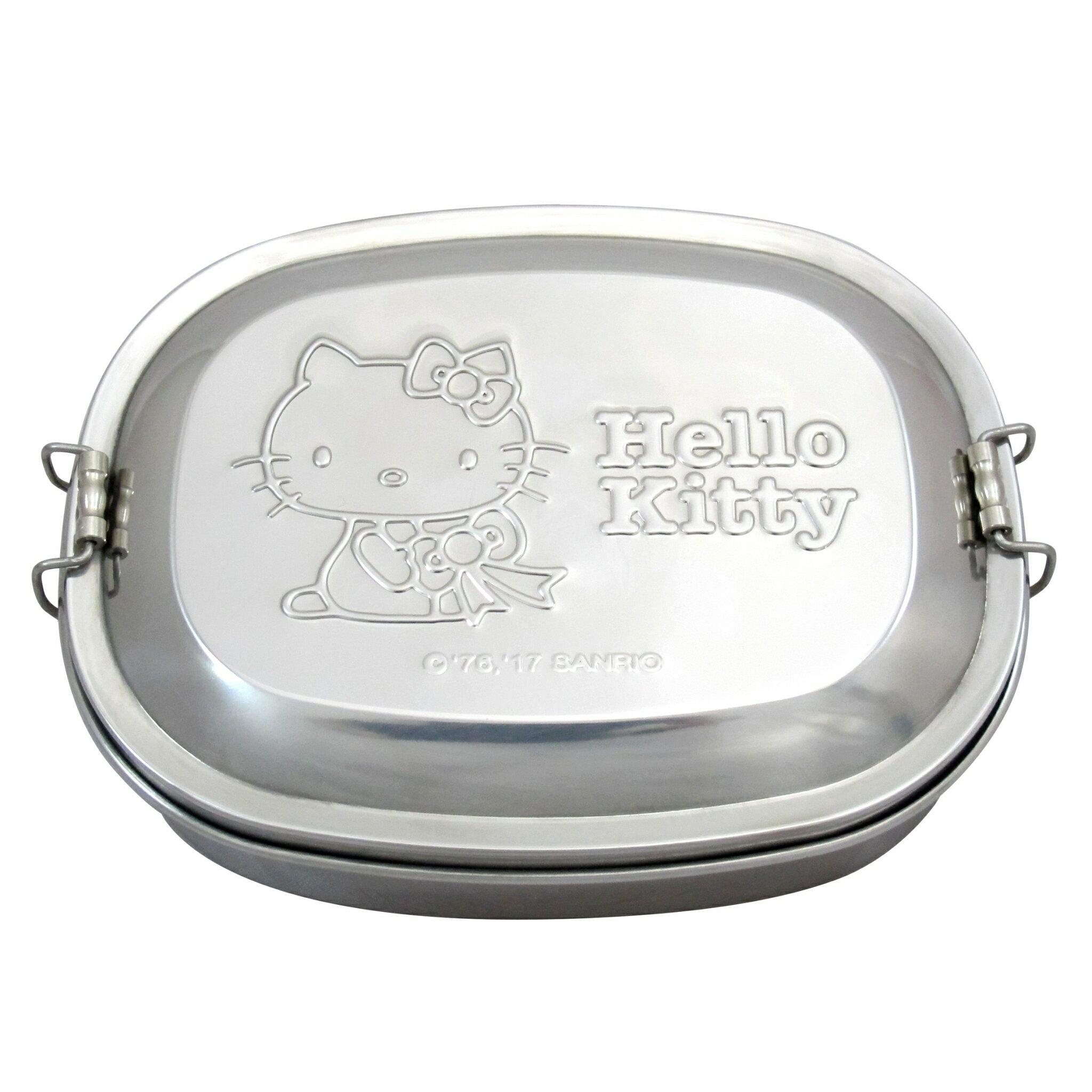 X射線【C168661】Hello Kitty 不鏽鋼便當盒,雙扣式餐盒/兒童餐具/環保安心