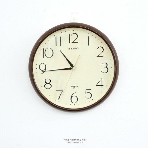時鐘SEIKO深咖外框數字掛鐘柒彩年代【NG43】原廠公司貨