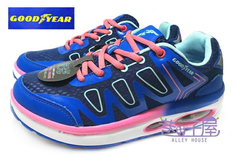 【巷子屋】GOODYEAR固特異 女款夜光律動減壓氣墊健走鞋 [52706] 藍 超值價$690+免運