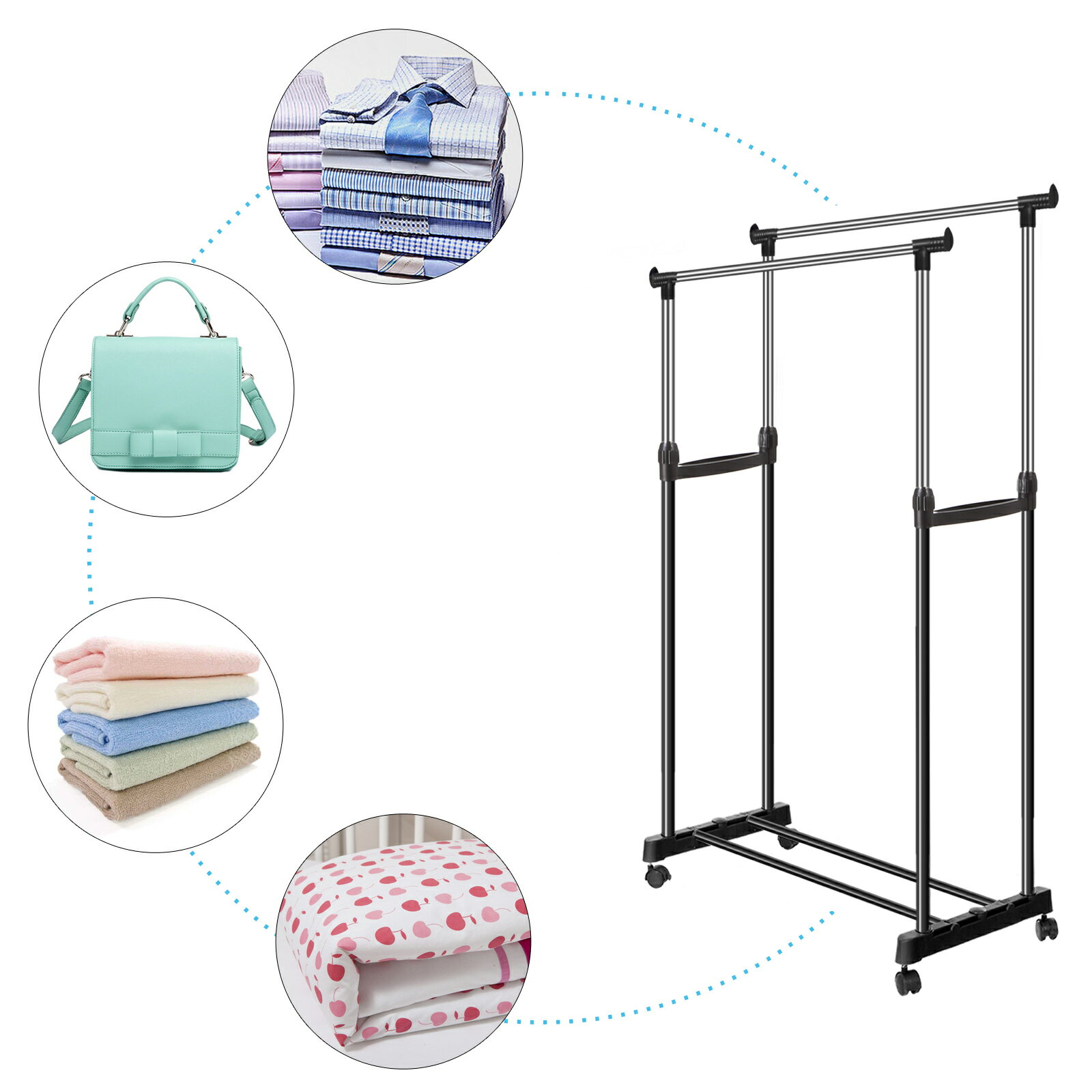 Clothes Garment Drying Hanging Racks 5