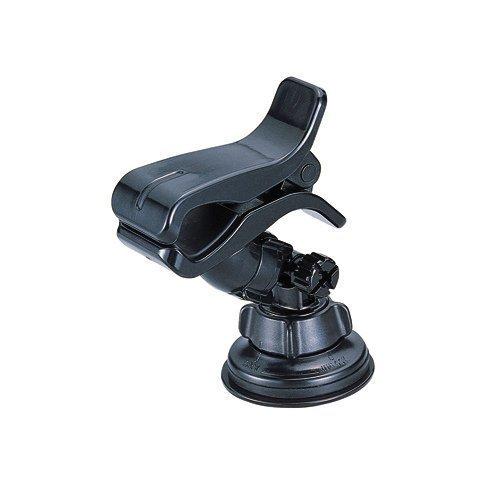 權世界@汽車用品 日本CARMATE夾式 360度可旋轉 吸盤式智慧型手機架 車架 置物架 ME57