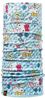 【【蘋果戶外】】BF108231BUFFPolartechello你好kitty冬季保暖兩段式吸濕排汗魔術頭巾Junior孩童女性
