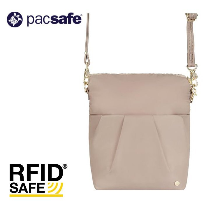 【Pacsafe 澳洲】Citysafe CX 可摺疊防盜側背包 輕旅防盜斜背包 防盜背包 旅行隨身包 粉色 (20405219)