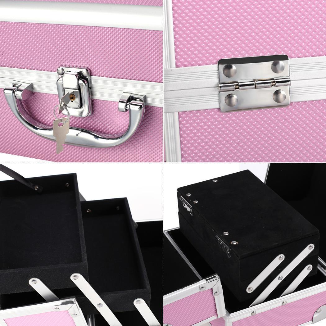 Lockable Makeup Travel Case Jewelry Box 4