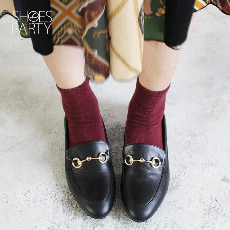 【C2-18129L】真皮鍊條樂福鞋_Shoes Party 1