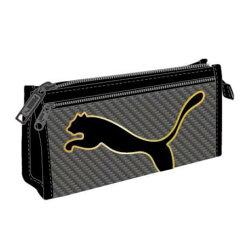 大賀屋 PUMA 黑色 筆袋 收納袋 鉛筆盒 文具 化妝包 豹 PU 日貨 正版 授權 J00013364