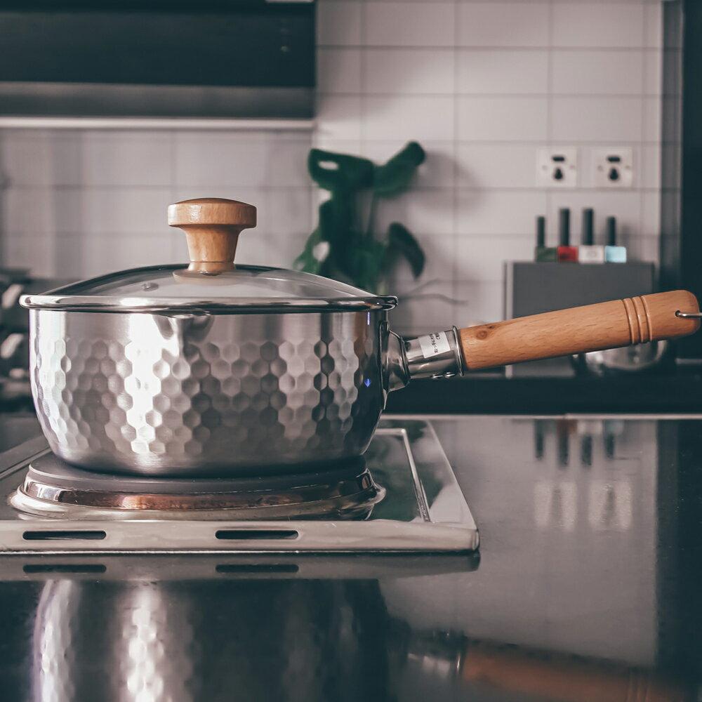 雪平鍋 日本吉奈不銹鋼家用不粘小奶鍋煮泡面牛奶湯鍋套裝輔食【MJ5430】