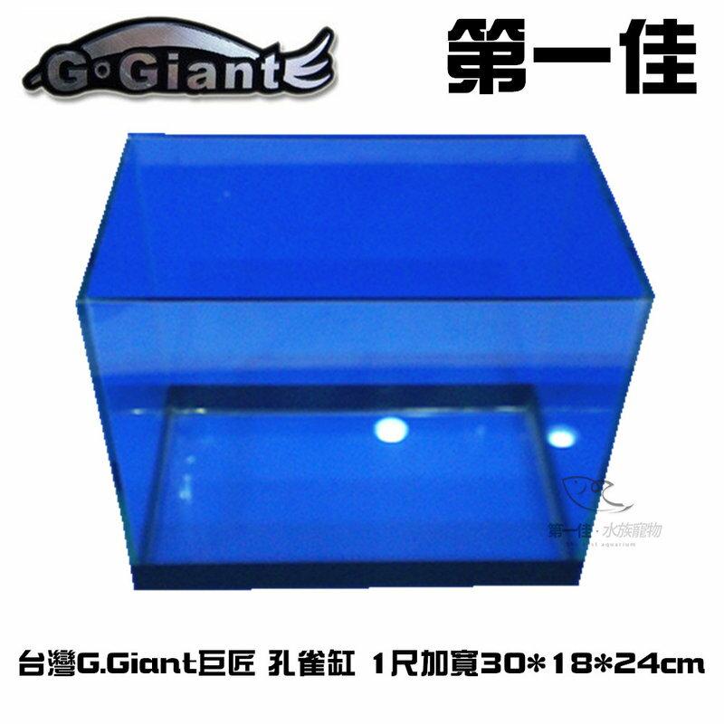 [第一佳 水族寵物] C100608台灣G.Giant巨匠 孔雀缸(魚缸.空缸) 1尺加寬30*18*24cm