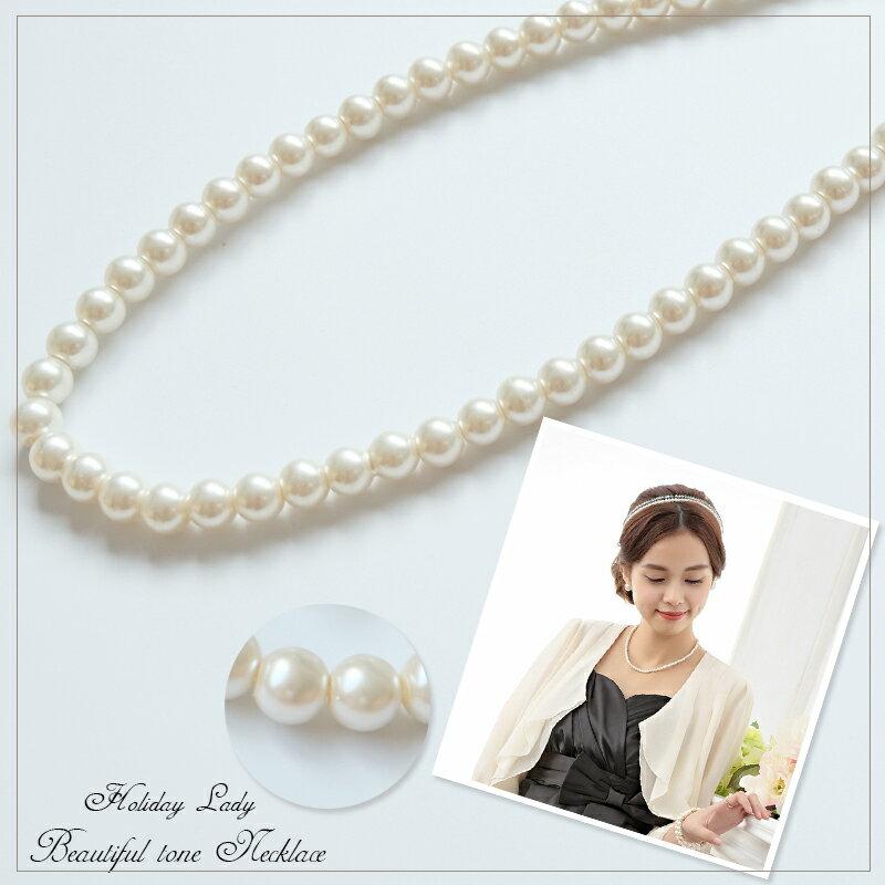 天使嫁衣【HLL002】古典優雅單圈短款珍珠項鍊˙預購訂製款