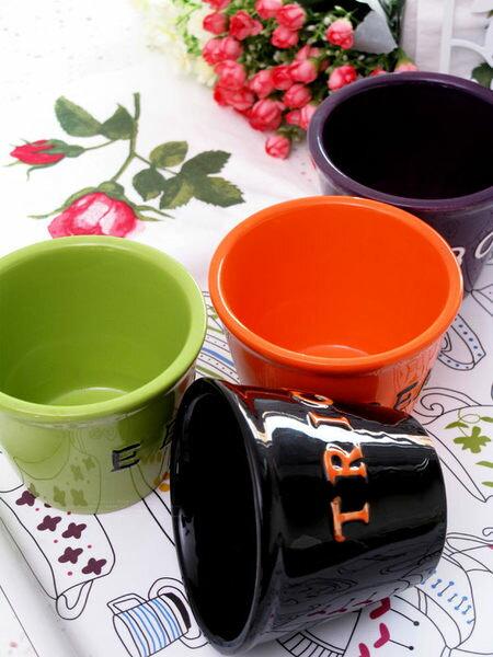 色釉系列手繪陶瓷彩色小碗 四色 3個/組