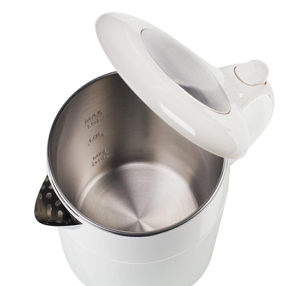 【PRINCESS】荷蘭公主 1.5L不鏽鋼防燙快煮壺/白 236070