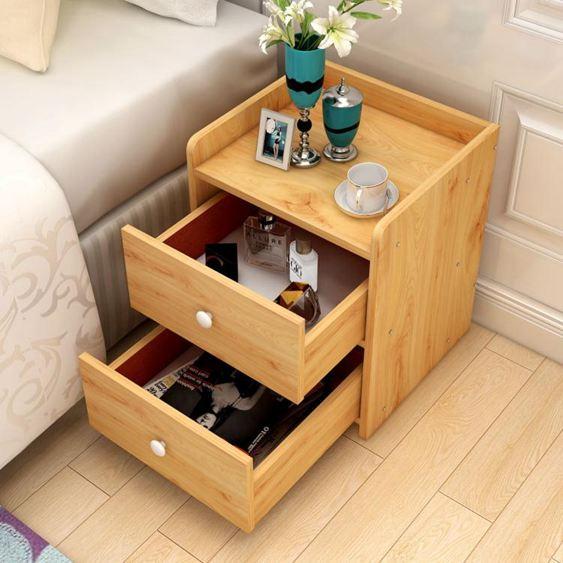 床頭櫃 簡易床頭櫃簡約現代迷你收納小櫃子特價儲物櫃宿舍臥室床邊櫃jy